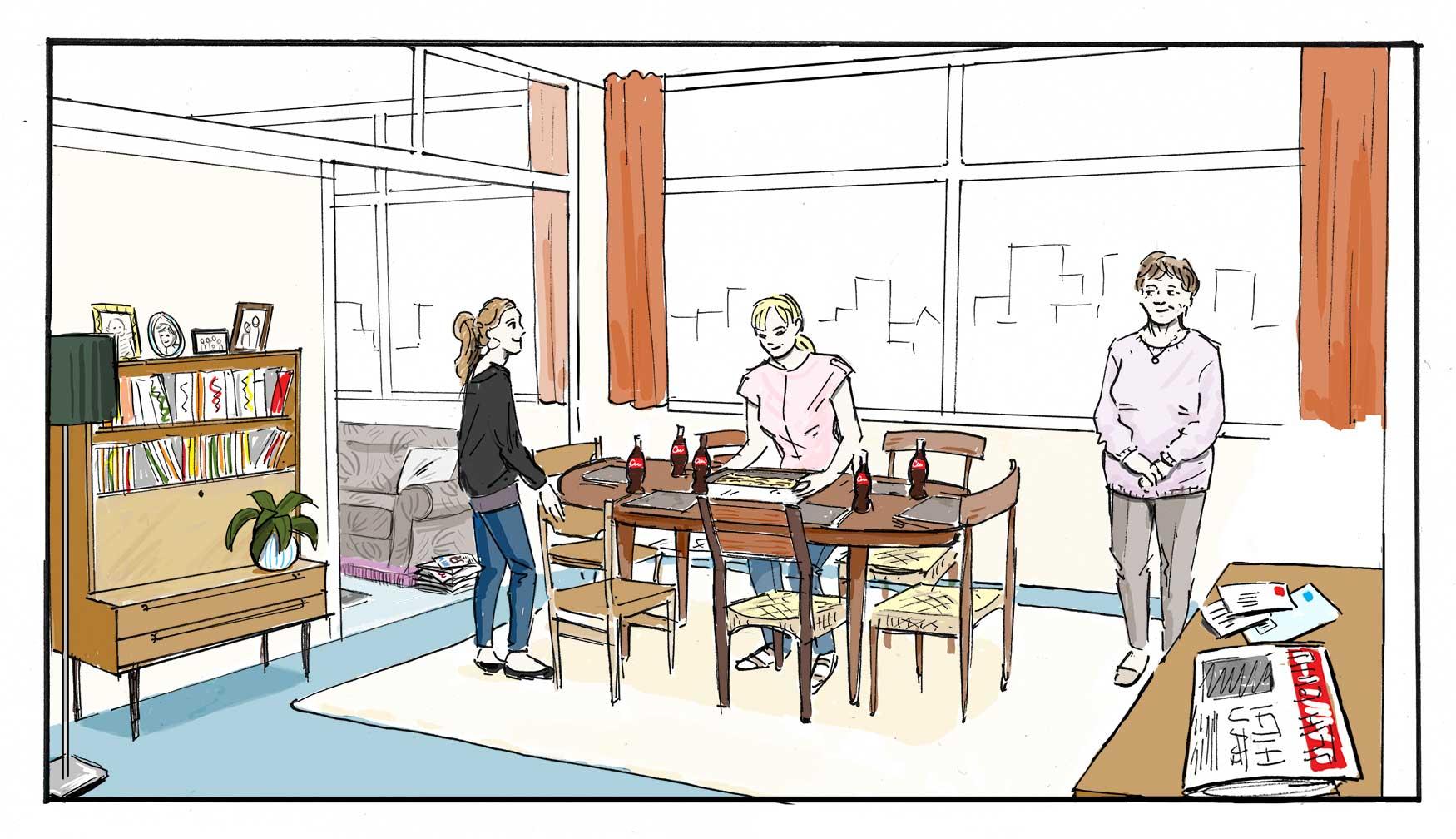 Coke Set Sketch lounge_